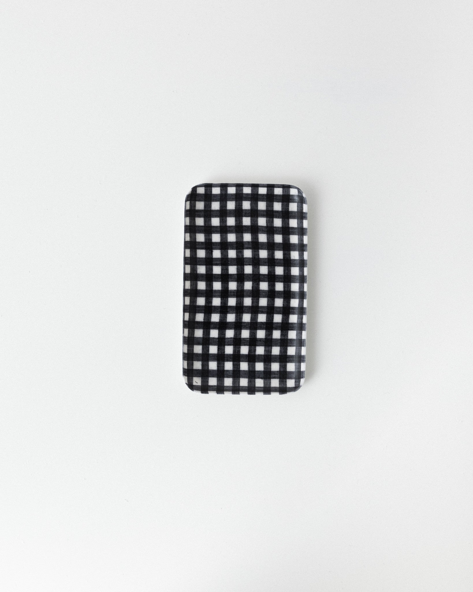 Fog Linen Work - Small Linen Coating Tray - Navy White Check