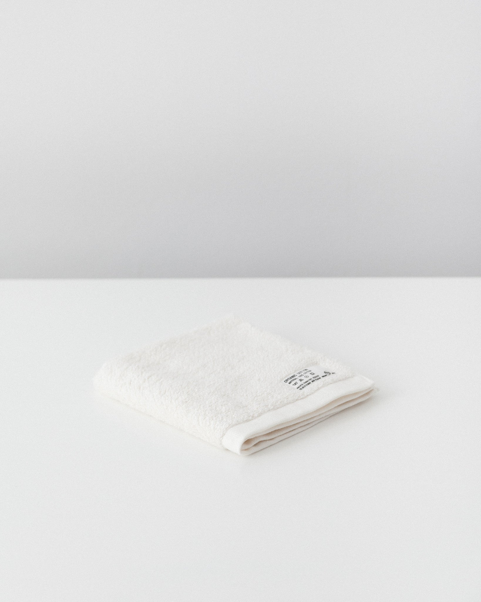 Pacific Furniture Service - Organic Cotton Wash Towel - Vanilla White