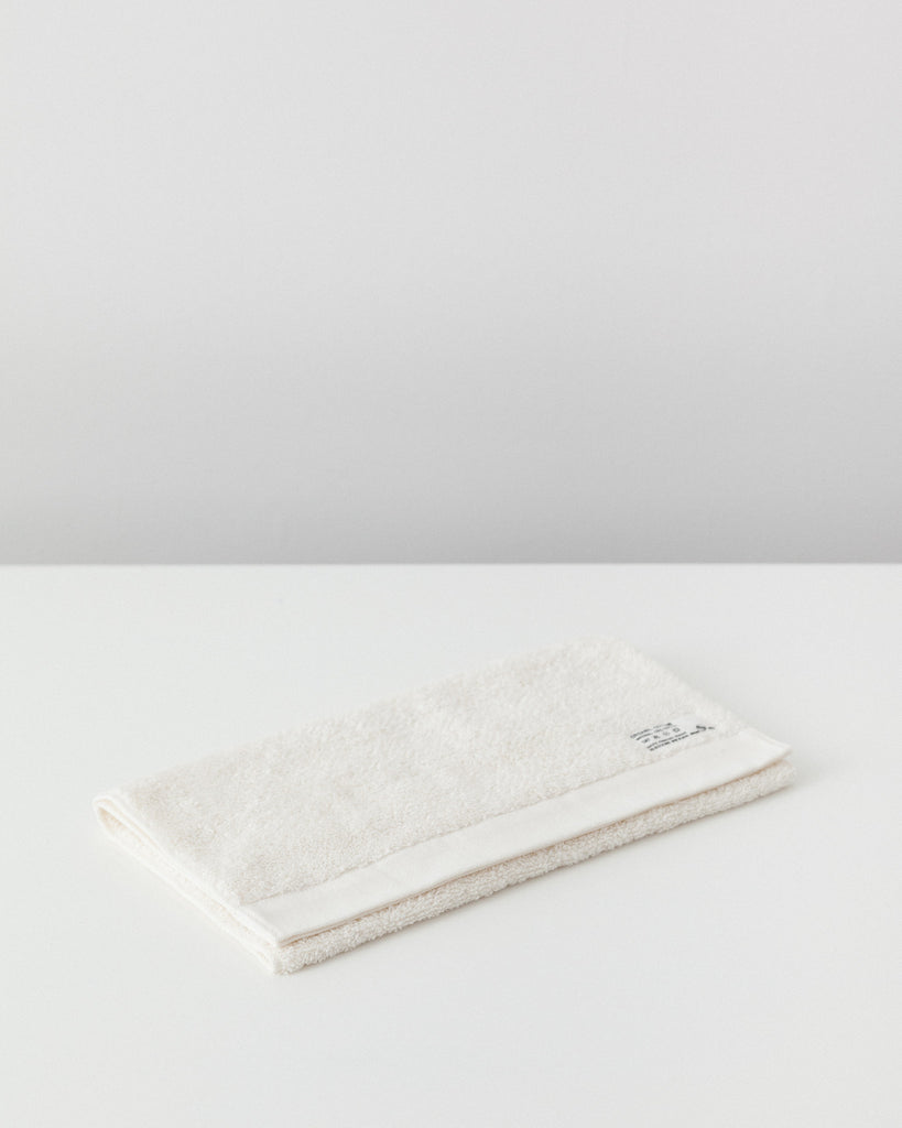 Pacific Furniture Service - Organic Cotton Face Towel - Vanilla White