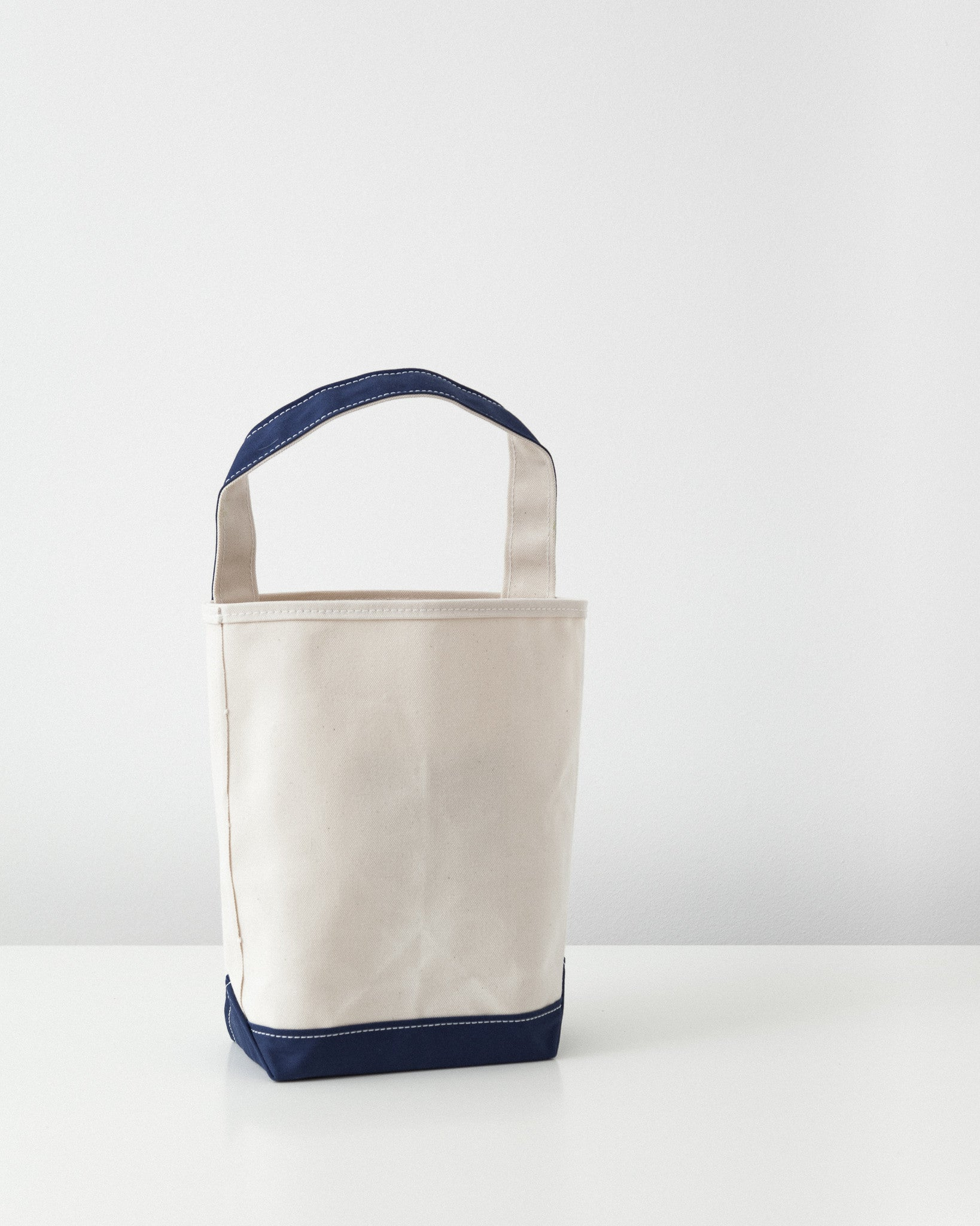 Tembea - Baguette Tote - Small - Natural/Navy