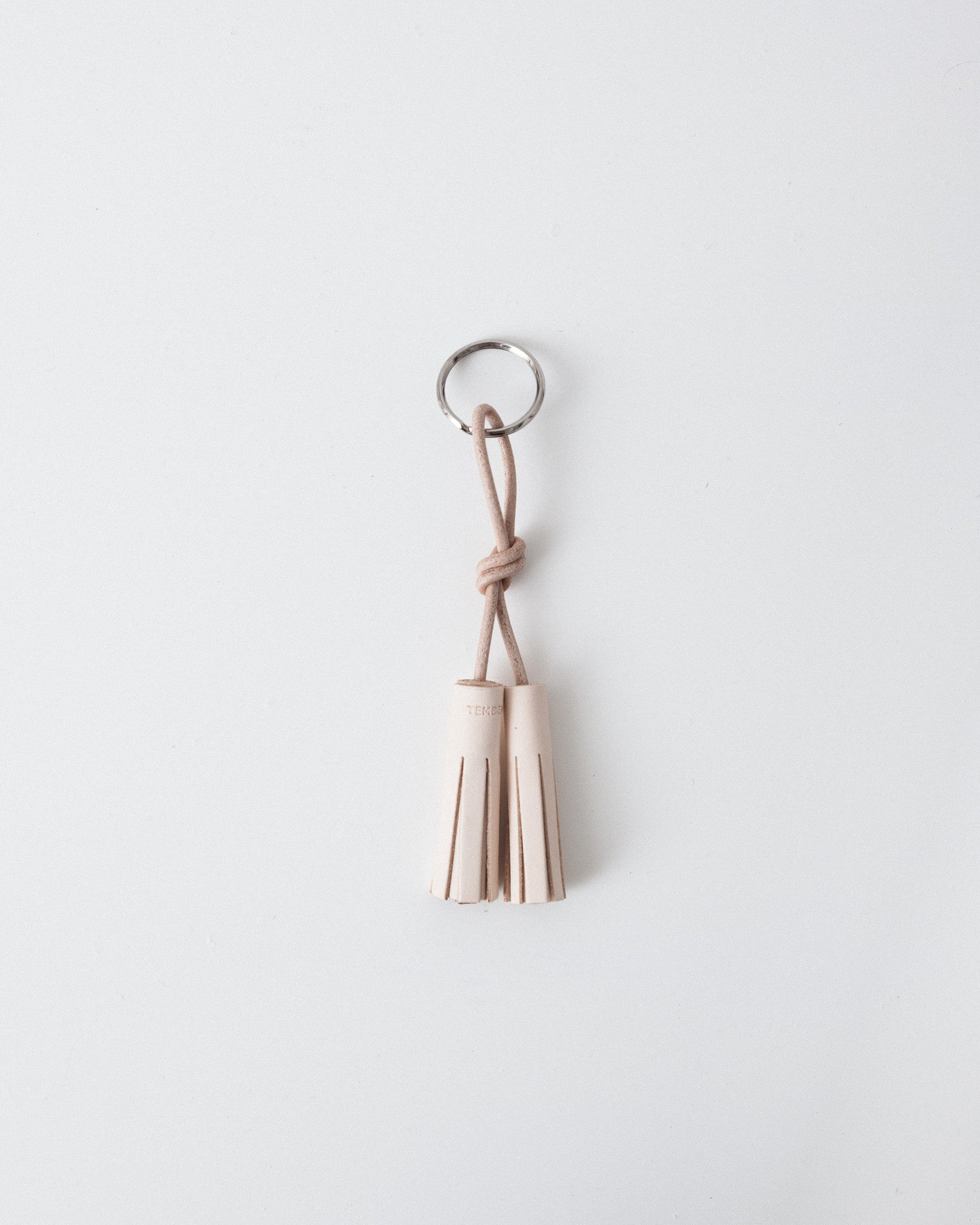 Tembea - Key Ring Two Tassel - Natural