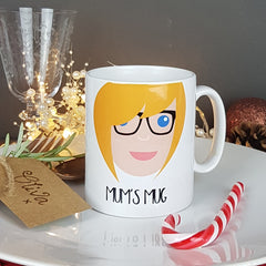 Personalised Mum Face Mug