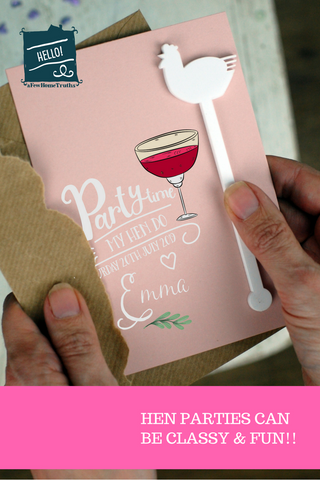 Hen and Bachelorette Party invitation
