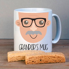 Gift from grandchildren for grandad with moustache