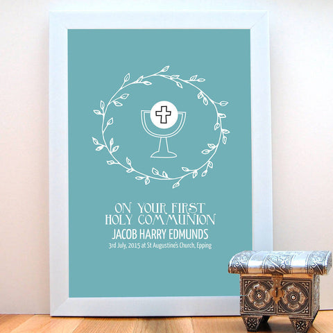 First Holy Communion Personalised Print - Afewhometruths