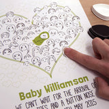 Fingerprint Baby Shower Or Christening 'Guestbook' - Afewhometruths