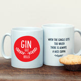 Gin Gle Bells Christmas Personalised Mug - Afewhometruths