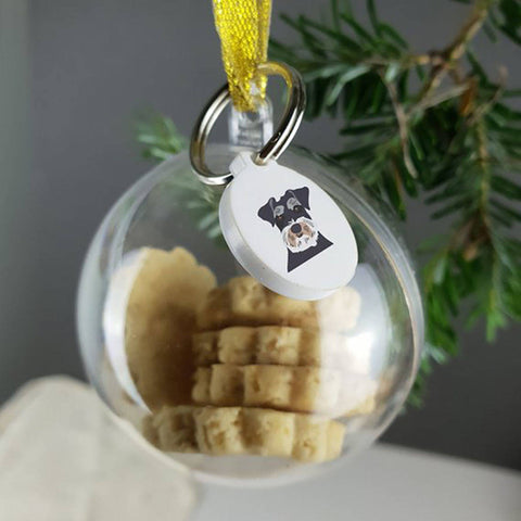 Personalised Christmas Dog Bauble With Treats - Afewhometruths