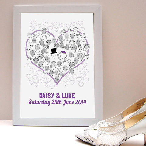 Fingerprint Wedding Guestbook - Afewhometruths