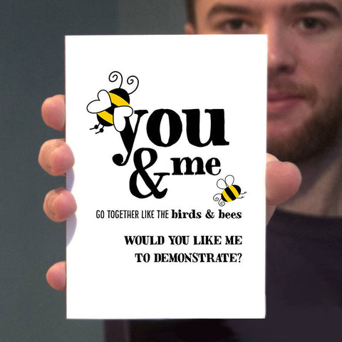 Birds And Bees Valentines Card - Afewhometruths