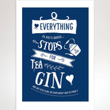 'Everything Stops For Gin' Gin Print - Afewhometruths