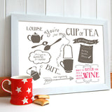 'Just My Cup Of Tea' Friendship Print - Afewhometruths