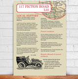 Personalised House History And Map Print - Afewhometruths