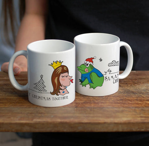 Fairytale Couple Personalised Christmas Mug - Afewhometruths