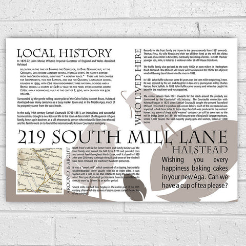 Personalised House History New Home Print - Afewhometruths