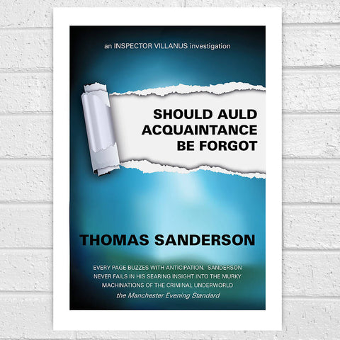 Personalised Thriller Book Cover Print - Afewhometruths
