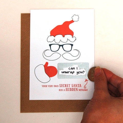 Write Your Own Hidden Message Secret Santa Card - Afewhometruths
