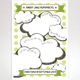 Christening Card Guest Book - Afewhometruths