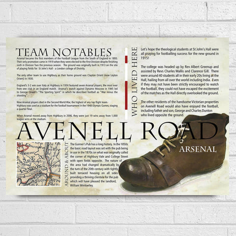 Arsenal Football Club History Print - Afewhometruths