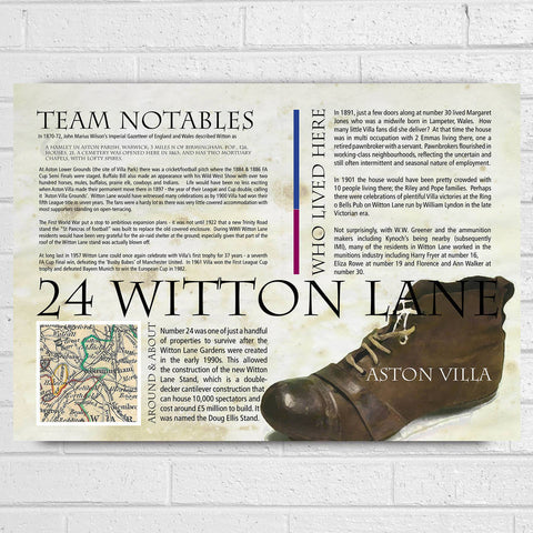 Aston Villa Football Club History Print - Afewhometruths