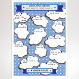 Personalised Christening Month By Month Print - Afewhometruths
