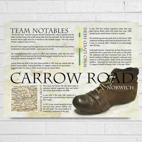 Norwich Football Club History Print - Afewhometruths