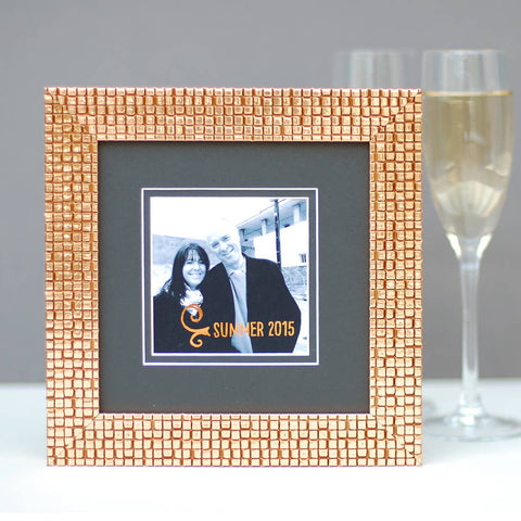 Copper Frame With Personalised Embellished Photo - Afewhometruths