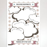 Wedding Wishes Guest Book Card - Afewhometruths