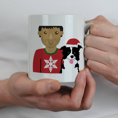 Personalised Christmas Dog Dad Mug