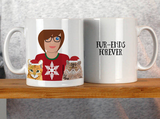 Christmas Cat Lady Mug - Afewhometruths