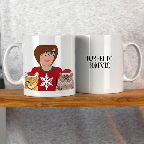 Christmas Cat Lady Mug
