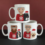 Personalised Christmas Dog Dad Mug - Afewhometruths