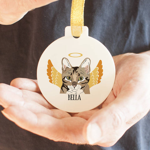 Cat Angel Memorial Keepsake