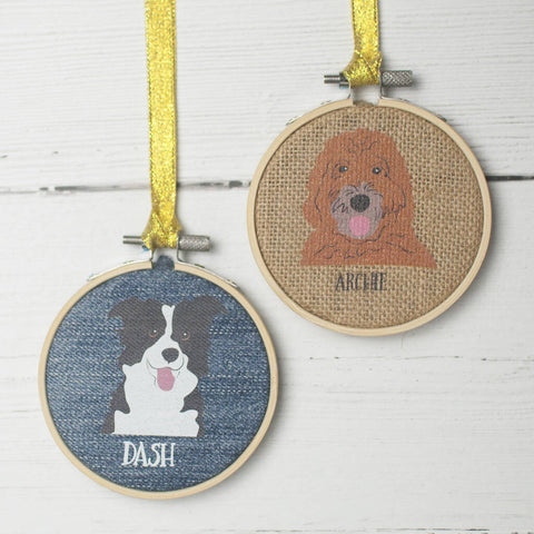 Upcycled Personalised Textile Dog Portrait
