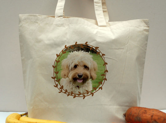 Personalised Dog Tote Shopper Bag - Photo Upload - Afewhometruths