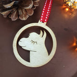 Alpaca Wooden Christmas Decoration (pack of 4) - Afewhometruths
