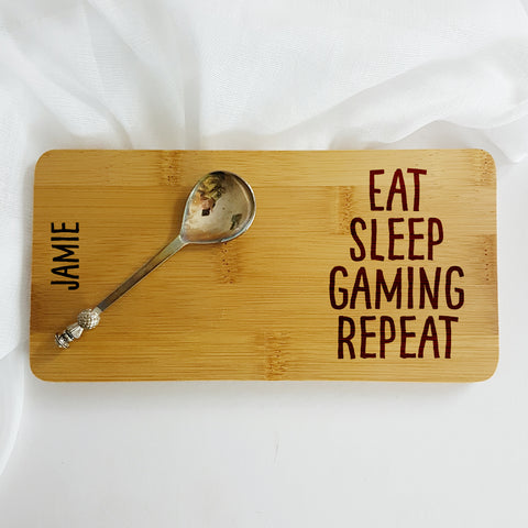 Personalised Eat Sleep Gaming Repeat Coaster - Afewhometruths