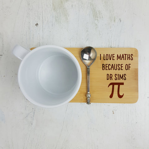 Personalised Maths Teacher Coaster - Afewhometruths