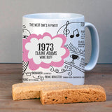 Personalised 1973 Birthday Mug - Afewhometruths