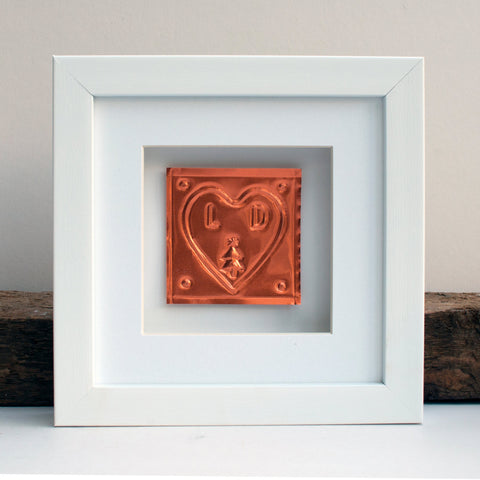 Couple Christmas Copper Frame - Afewhometruths