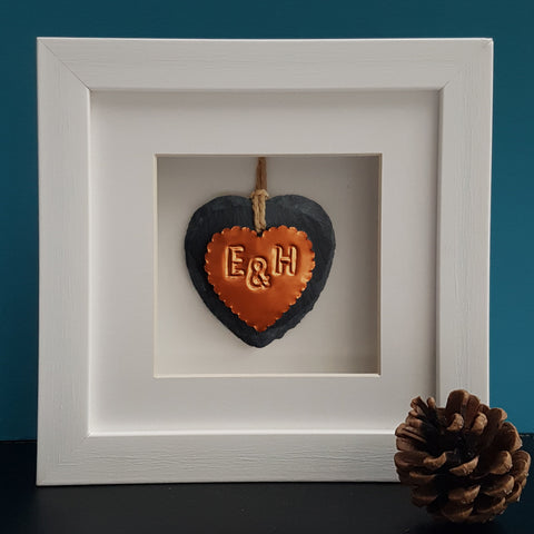 Couple Copper Heart Framed Ornament - Afewhometruths