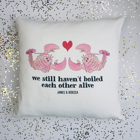 Lobster Personalised Cushion - Afewhometruths