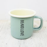 Personalised Beard Love Engraved Enamel Mug - Afewhometruths