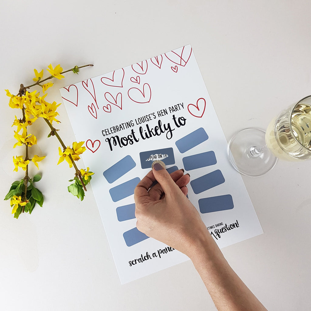 Raunchy Most Likely Scratchie Bridal Shower Game Print