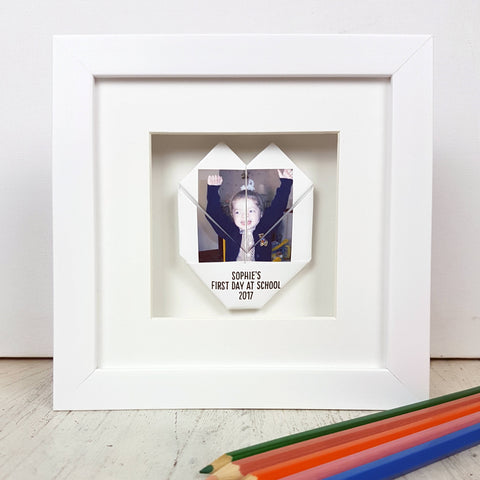 Framed First Day of School Photograph Origami Gift – Afewhometruths