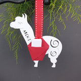 Personalised Alpaca Carrier Christmas Tree Bauble Decoration - Afewhometruths
