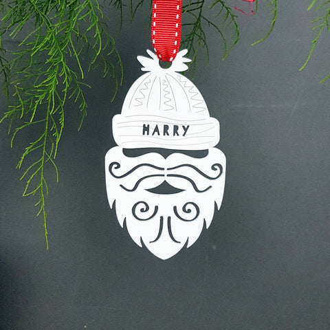 Personalised Santa Christmas Tree Bauble Decoration - Afewhometruths