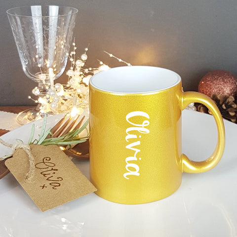 Golden Personalised Gift Mug - Afewhometruths