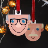 Grandad Gift Christmas Decoration - Afewhometruths