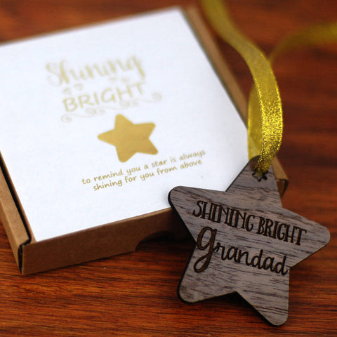 Shining Bright Grandad Memory Decoration - Afewhometruths
